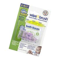 Baby Buddy Wipe N Brush Silicone Toothbrush and Dental Wipe