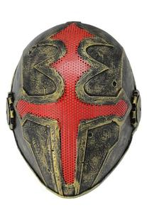 FMA New Wire Mesh Red Golden Cross Full Face Protection