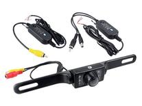 2.4g Wireless Car License Mount Rear View Backup Camera 7 Ir