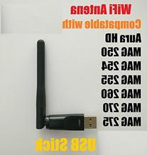 Wireless Wifi USB Dongle Stick Aura Hd MAG 250 254 255 260