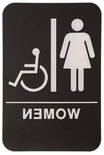 Women Restroom Sign Black/White - ADA Compliant
