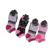 12 Pairs Women's No Show Pink Ribbon Breast Cancer Awareness