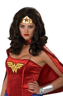 Secret Wishes  Wonder Woman Wig, Black, One Size