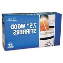 Royal Paper Wood Coffee Stirrers, 7 1/2 Long, Woodgrain, 500