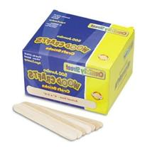 "Chenille Kraft Natural Wood Craft Sticks, Jumbo Size, 6"" x 3"