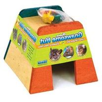 Ware Manufacturing Gnawsome Wood Pet Hut with Chew Toy for