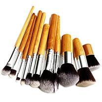 DuaFire 11 pcs Wood Handle Makeup Cosmetic Eyeshadow