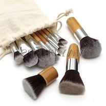 DragonPad 11 pcs Wood Handle Makeup Cosmetic Eyeshadow