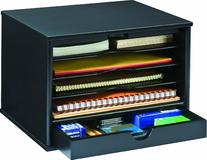 Victor Wood Midnight Black Collection, 4-Shelf Desktop