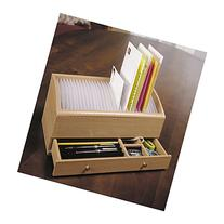Natural Wood Space Saver Letter and Bill Organizer with