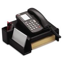 Rolodex Wood Tones Collection Phone Stand, Black