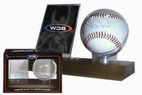 BCW Woodbase Baseball & Card Holder  - Quantity of 5