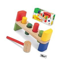 Wooden Hammer Bench Developmental 4 Peg Tool Kids TOY Play