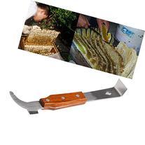 Wooden Handle Stainless Steel Bee Hive Scraper Beekeeping