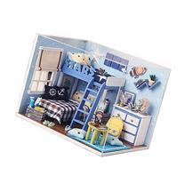 Rylai Wooden Handmade Dollhouse Miniature DIY Kit - Star