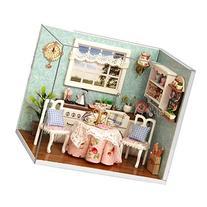 Rylai Wooden Handmade Dollhouse Miniature DIY Kit - Happy