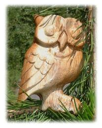 Wooden Hoot Owl Whistle - Mama ~5 Inches High