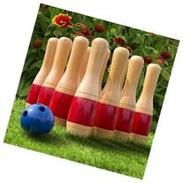 11 Inch Wooden Lawn Bowling Set Made of New Zealand Pine
