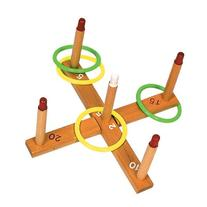 Champion Sports Wooden Ring Toss Game for Tailgating,