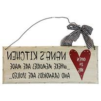 1 X Wooden Wall Plaque. 'Nana's Kitchen Where Memories are