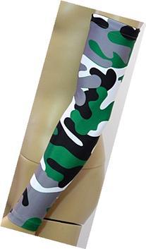 NEW! Sports Farm - Green Gray Black White Woodland Camo Arm