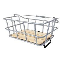 """Sunlite Woody QR Rack Top Basket, 11.8 x 15.7 x 7"""", Silver"""