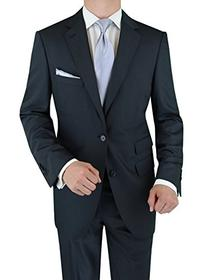 Luciano Natazzi Men's Wool Cashmere Ticket Pocket Charcoal
