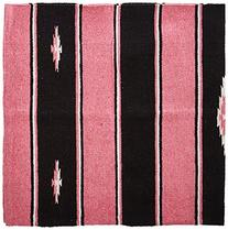 Wool Sierra Saddle Blanket, Pink/Black