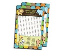 Word Find Search - Baby Shower Game - King of Jungle Theme