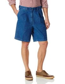 Haggar Men's Work To Weekend Expandable Waist Pleat Front