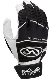 Rawlings WORK950BG-B-89Batting Glove Black Medium