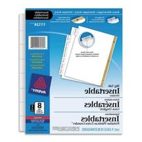 Avery Worksaver Insertable Big Tab Recycled Dividers, Gold