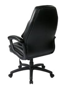 Office Star Oversized Executive Faux Leather Chair with