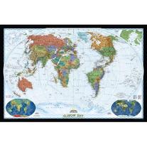 World Decorator Map, Paper Tubed