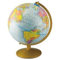 World Globe, w/ Gold Toned Base, 12 quot;x16 quot;x13 quot
