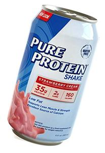Pure Protein 35g Shake - Strawberry Cream, 11 ounce, 12