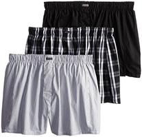 Calvin Klein Men's 3-Pack Woven Boxers, Montague Stripe/