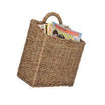 MyGift Woven Hanging Wall Mounted Basket Rustic Home Décor