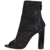 Casadei Women 100mm Woven Open Toe Ankle Boots