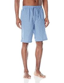 Nautica Men's Woven Plaid Short, French Blue, Large