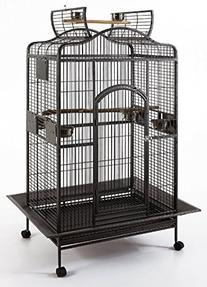 New Large Wrought Iron Open/Close Play Top Bird Parrot Cage