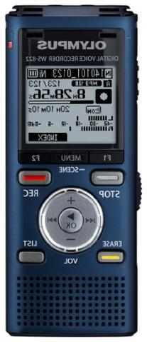 Olympus WS-822 Blue Voice Recorders with 4 GB Built-In-