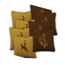WYOMING COWBOYS Cornhole Bags SET of 8 Officially Licensed