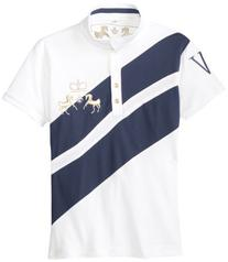 Equine Couture Women's X-Press Short Sleeve Polo, White/EC