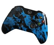 Xbox One Modded Controller: Blue Fire Master Mod Compatible