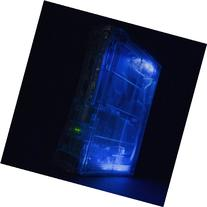 XBOX 360 GHOST CASE - CRYSTAL CLEAR/HDMI/BLUE LIGHTS