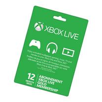 Microsoft Xbox Live Subscription Card For Xbox 360 Xbox One