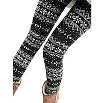 MERSUII™ Women Xmas Christmas Snowflake Design Leggings