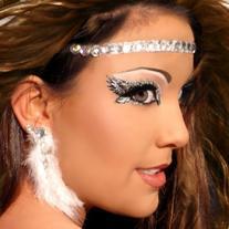 Xotic Eyes Angelic Glitter Professional Eye Make up Costume