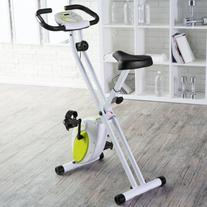 Folding Upright Exercise Bike with Heart Rate, Contoured